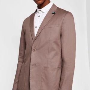 CLIFORD Piece-dyed cotton blazer